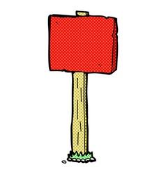 comic cartoon sign post vector image