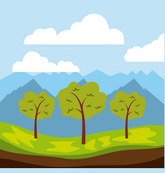 cool relaxing landscape vector image