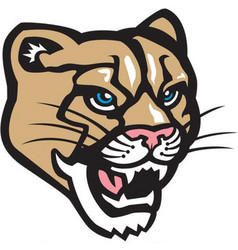 Cougar head logo mascot vector