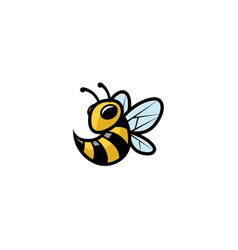 creative little bee attack logo vector image