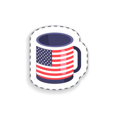 cup and flag america on it vector image