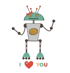 cute love robot vector image