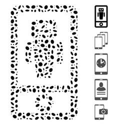 Dot mosaic robot communicator vector