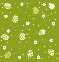 Easter holiday green background vector