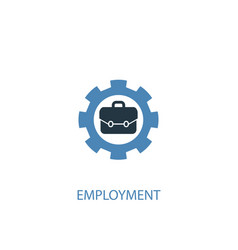 Employment concept 2 colored icon simple blue vector