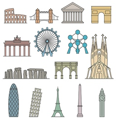 Europe monument Line art style vector image