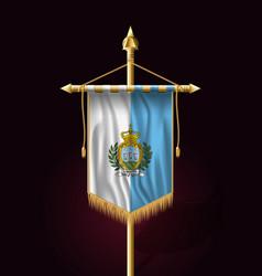 flag of san marino festive vertical banner wall vector image