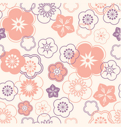 floral seamless pattern oriental flower chinese vector image
