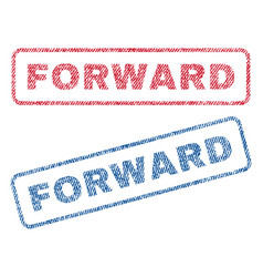 Forward textile stamps vector