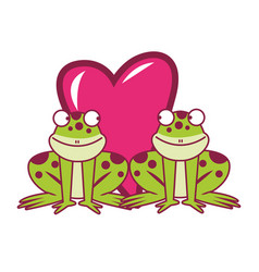 Frogs couple in love vector