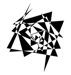 Geometric edgy shape pattern rough edgy geometric vector
