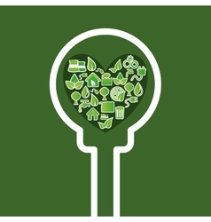 go green ecology vector image