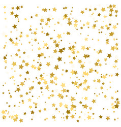 gold stars confetti celebration falling golden vector image
