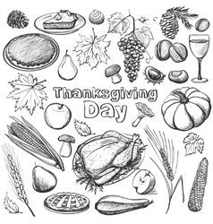 Hand drawn - thanksgiving day vector