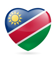 Heart icon of namibia vector