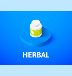 herbal isometric icon isolated on color vector image