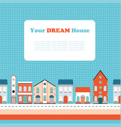 House buildings home seamless background pattern vector