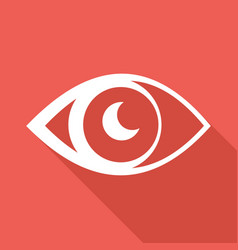 icon eye with a long shadow vector image
