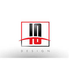 Io i o logo letters with red and black colors and vector