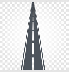 isolated black color road or highway with dividing vector image