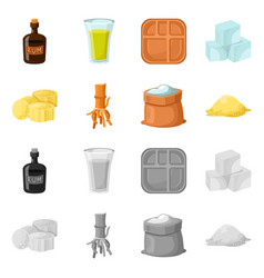 isolated object natural and production icon vector image