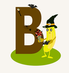 Letter b in the english alphabet vector