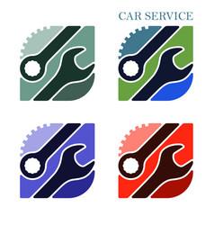 logo or emblem for car service and garage high vector image