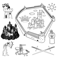 Medieval theme vector image