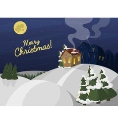 Merry Christmas street card vector