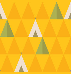 minimal seamless pattern with trees and wigwams vector image vector image