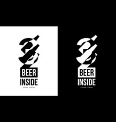 Modern craft beer drink isolated logo sign for vector