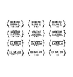 movie award nomination winner icon set vector image