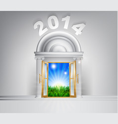 New year hope door concept 2014 vector