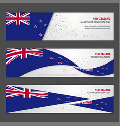 New zealand independence day abstract background vector