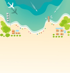 Paradise tropical beach background for summer vector