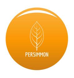 Persimmon leaf icon orange vector