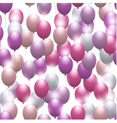 pink balloons seamless festive pattern vector image