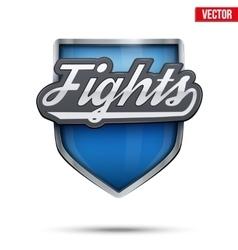Premium symbol fights label vector