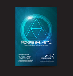 Progressive metal music festival sound poster vector