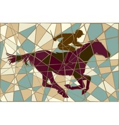 Racing horse mosaic vector image
