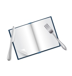 reading and food concept vector image