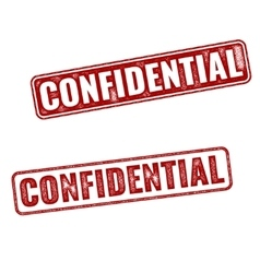 Realistic Confidential grunge rubber stamps vector image