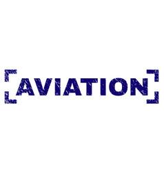 Scratched textured aviation stamp seal between vector