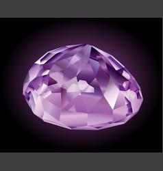 shining violet kunzite vector image