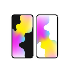 smart phone with colorful screen vector image