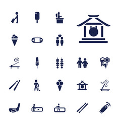 Stick icons vector