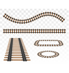 straight tracks art design vector image