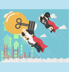successful businessman is a super hero symbol of vector image