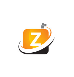 Technology motion synergy letter z vector
