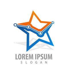 technology star graph point concept design symbol vector image
